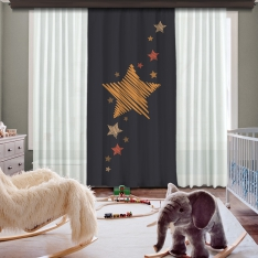 Star İn My Dreams Panel Curtain Model 4