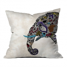 Ethnic Elephant Figured Combine Pillow