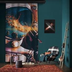 Astronotun Gözünden Tek Kanat Fon Perde