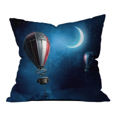 Moonlight and Balloons Pillow