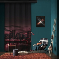 Dark Sunset One Piece Panel Curtain