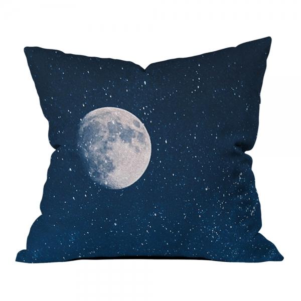 Gökyüzü ve Ay Manzarası Kırlent