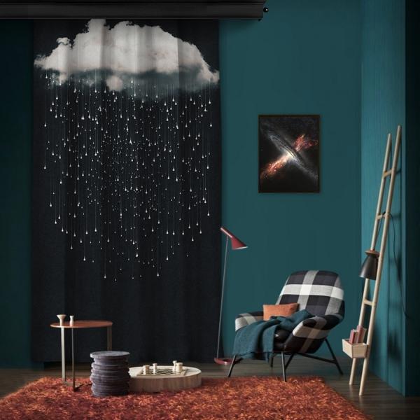 Hayal Bulutları Tek Kanat Fon Perde