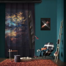 Dark Window One Piece Panel Curtain