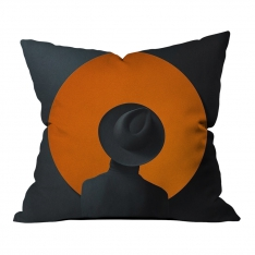 Dark Orange Music Spirit Pillow