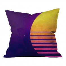 Purple Orange Illustration Model 2 Pillow