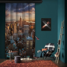 New York View One Piece Panel Curtain