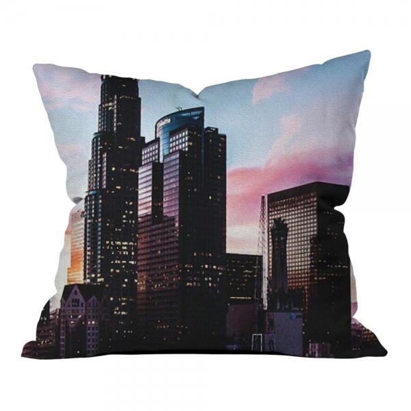 Renkli Şehir Görüntüsü Model 2 Kırlent