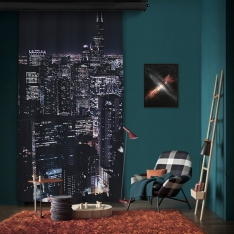 City Lights One Piece Panel Curtain