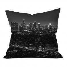 Black White Evening View Pillow