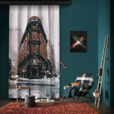 Cold Winter New York One Piece Panel Curtain