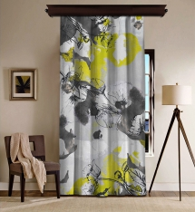 Abstract Flowers Blackout Curtain