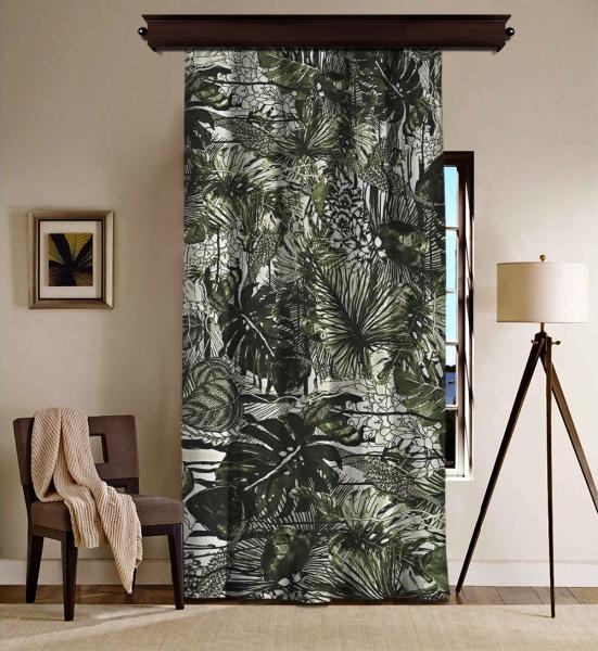 Tropical Thin Leaves Blackout Curtain