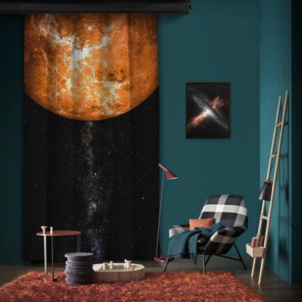 Venüs Atmosferi Tek Kanat Fon Perde
