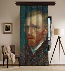 Vincent Van Gogh - Self Portrait Blackout Curtain