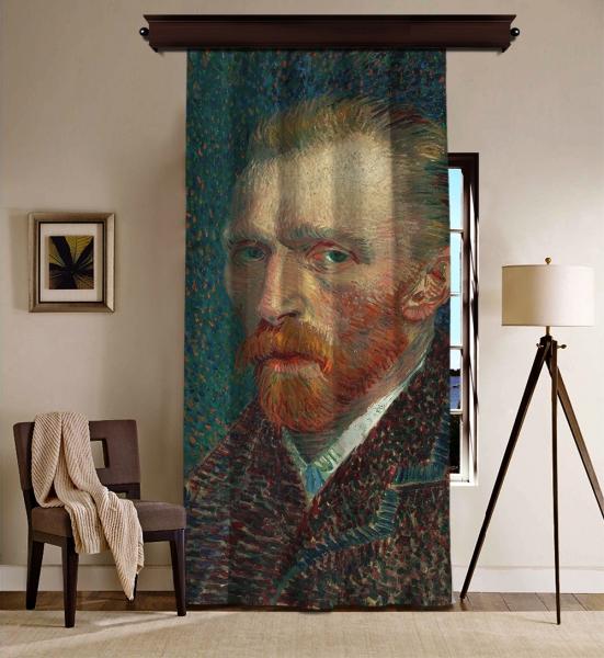Vincent Van Gogh - Otoportre Blackout Perde