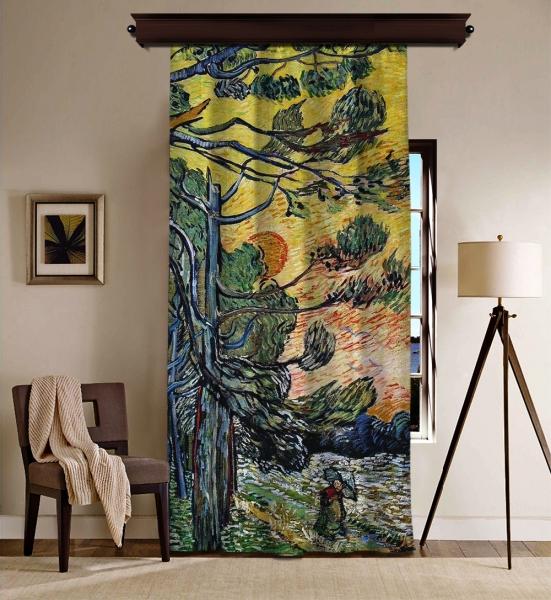 Vincent Van Gogh - Palmiye Ağaçları Blackout Perde