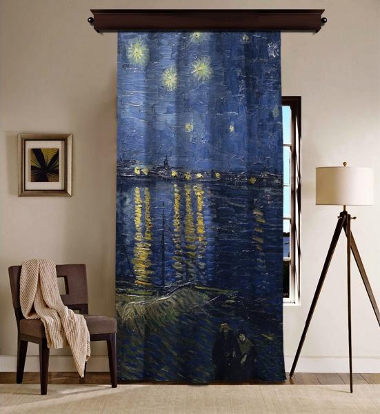 Vincent Van Gogh - Rhone Üzerinde Yıldızlı Gece Blackout Perde