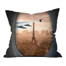 Vip Uçuş Eyfel Kulesi Manzarası Kırlent
