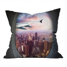 Vip Uçuş New York Manzarası Kırlent