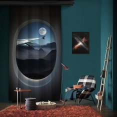 Vip Flight Foggy Night One Piece Panel Curtain
