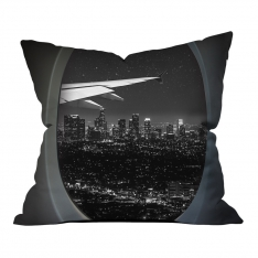 Vip Flight Black White Evening View One Pillow
