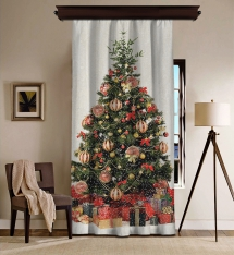 Chirstmas Tree Blackout Curtain