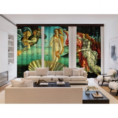 Sandro Botticelli - Venüs'ün Doğuşu 3 Kanat Perde Seti