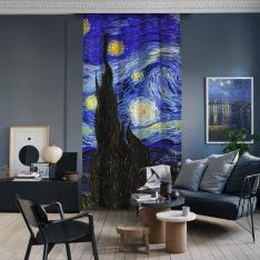 Vincent Van Gogh - Yıldızlı Gece Panel 1