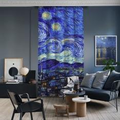 Vincent Van Gogh - Yıldızlı Gece Panel 2