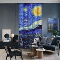 Vincent Van Gogh - Yıldızlı Gece Panel 3