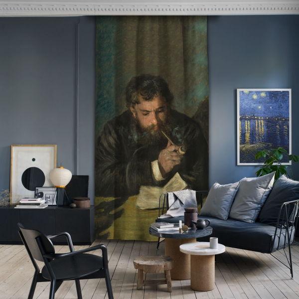 Auguste Renoir-Claude Monet Tek Kanat Fon Perde