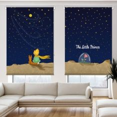 Cipcici Tiyatrosu Küçük Prens Gece Çift Kanat Stor Perde