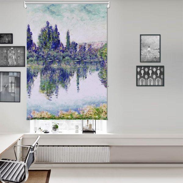 Claude Monet - Seine'de Sabah Tek Kanat Stor Perde