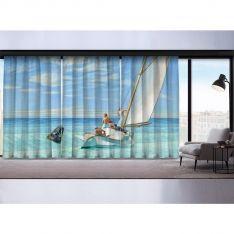 Edward Hopper-Dalgaların Kabarması 3 Kanat Fon Perde