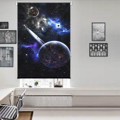 Fantazi Gezegenler Uzay Tek Kanat Stor Perde
