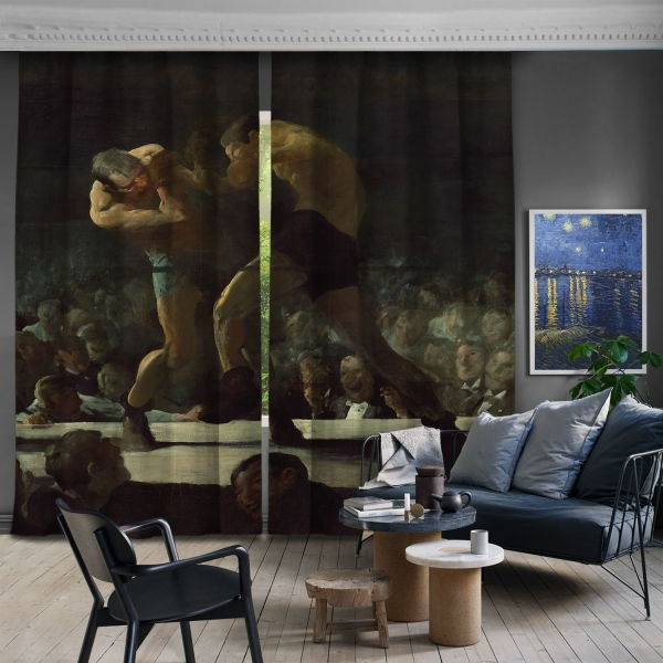 George Bellows Gece Kulübü 2 Kanat Fon Perde