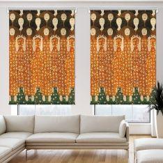 Gustav Klimt - Beethoven Friz (Detay) 2 Kanat Stor Perde