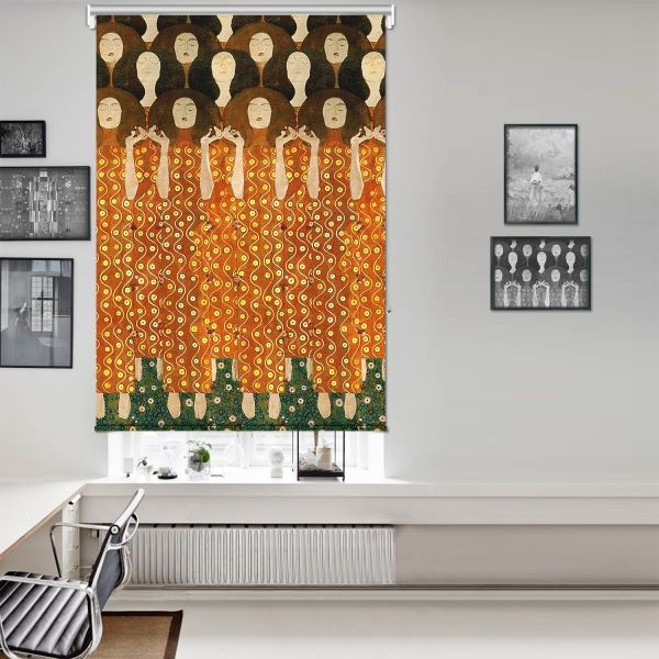 Gustav Klimt - Beethoven Friz (Detay) Tek Kanat Stor Perde