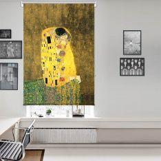Gustav Klimt - Öpücük Tek Kanat Stor Perde