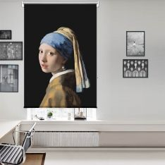 Johannes Vermeer - İnci Küpeli Kız Tek Kanat Stor Perde