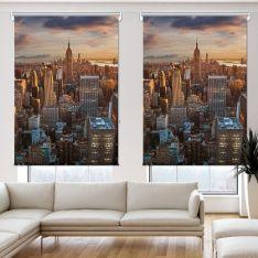 New York View 2 Panel Roller Blind