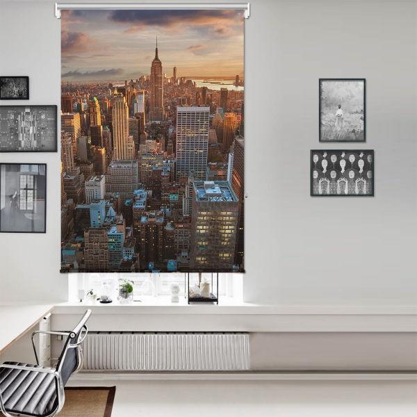 New York Manzarası Tek Kanat Stor Perde