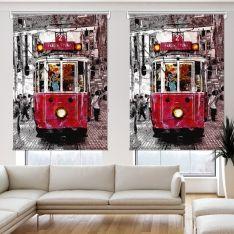 Nostalji Tramway 2 Kanat Stor Perde