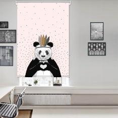 Romantic Panda Pink Single Roller Blind