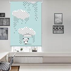 Downpour Panda Blue Single Roller Blind