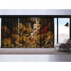 Sir Peter Paul Rubens-Aslanlar ve Daniel 3 Kanat Fon Perde