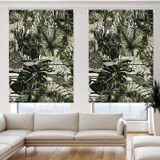 Tropikal İnce Yapraklı 2 Kanat Stor Perde