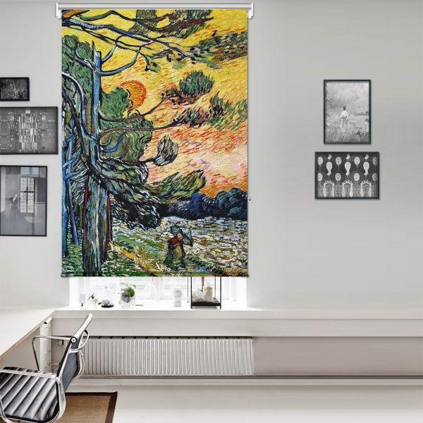 Vincent Van Gogh - Palmiye Ağaçları Tek Kanat Stor Perde