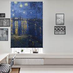 Vincent Van Gogh - Rhone Üzerinde Yıldızlı Gece Tek Kanat Stor Perde